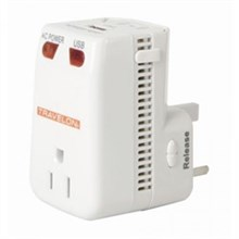 Travelon Adapters  travelon universal 3 in 1 converter adapter usb charger white