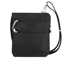 Travelon Anti Theft Cross Body Bags Travelon Anti Theft Classic Slim Double Zip Crossbody Bag